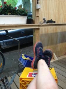 Slidte trætte ben - den ene dag gik jeg 15 km, hvilket taget mine caminoer i betragtning er peanuts men jeg går jo slet ikke så meget til daglig, så jeg var færdig!