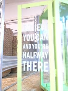 If you can dream it, you are halfway there - dét må jeg huske på dage som i dag. Jeg kan sagtens se mit mål, jeg skal bare derhen!
